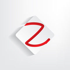 Letter Z as a sticker