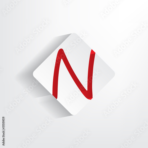 Letter N as a sticker