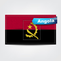 Fabric texture of the flag of Angola