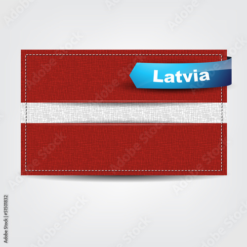 Fabric texture of the flag of Latvia