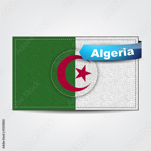 Fabric texture of the flag of Algeria