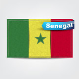 Fabric texture of the flag of Senegal