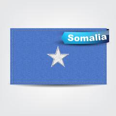 Fabric texture of the flag of Somalia