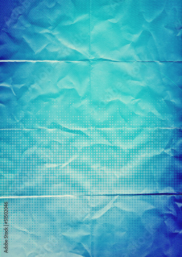 folded blue paper background