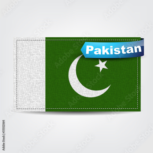 Fabric texture of the flag of Pakistan