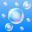 Realistic air bubbles in the water. Vector illustration