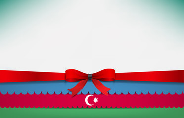 Abstract background with the Azerbaijan Flag