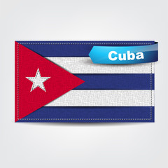 Fabric texture of the flag of Cuba