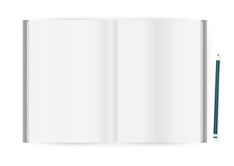 Vector blank magazine on white background