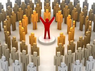 Leadership power. Concept 3D illustration