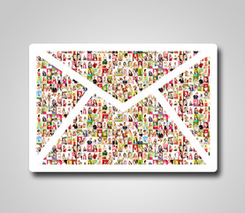 eMail - Portrait of a lot of people
