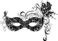 Masken für eine Maskerade. Vektor-Partei-Maske.