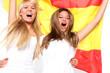 Mädls mit Spanien Fahne