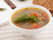 close-up of vegetable soup