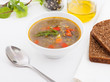 vegetable soup with brown bread