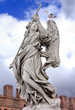 Statue of an Angel on Sant'Angelo Bridge in Rome