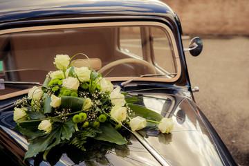 Décoration capot mariage