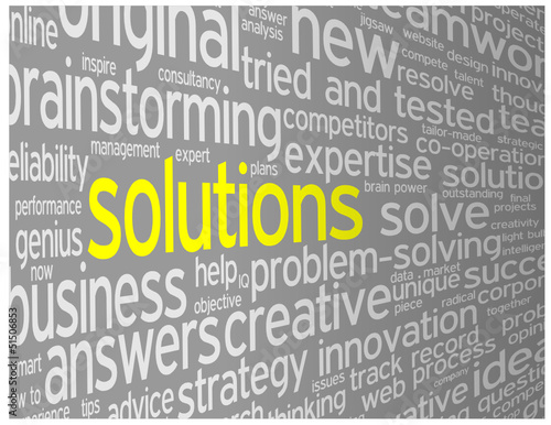 """SOLUTIONS"" Tag Cloud (ideas business projects innovation smart)"