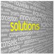 """Nuage de Tags """"SOLUTIONS"""" (idées aide imagination créativité)"""