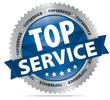 Top Service - Button mit Zacken