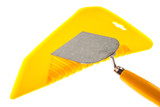 Plastic putty knife and plastering trowel poster