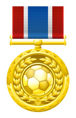 Soccer football medal