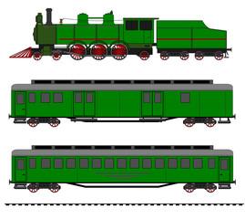 Vintage train kit