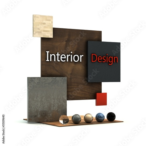 Interior design 3D illustration.