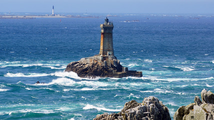 Lighthouse on Cape Sizun, Pointe du Raz.