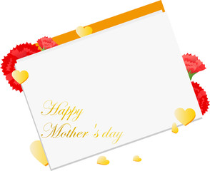 Mother's Day Carnation card