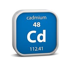 Cadmium material sign