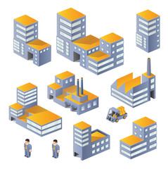 Buildings in the isometric