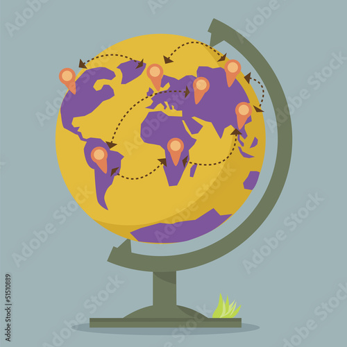 World Globe Maps network