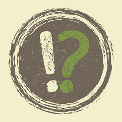 grunge question, information sign