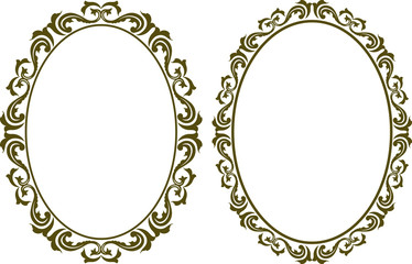 decorative oval border