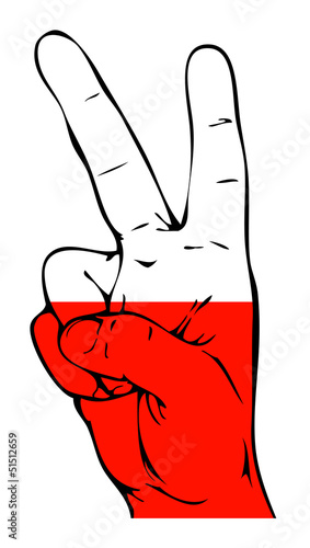 Peace Sign of the Polish flag