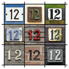 Collage of House Numbers Twelve