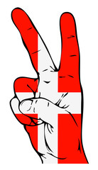 Peace Sign of the Danish flag