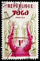 Postage stamp Togo 1957 Konkomba Helmet