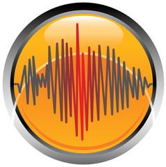 Logo simbolo terremoto sisma