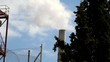 Smoking chimney of industrial building