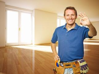 friendly handyman in new house