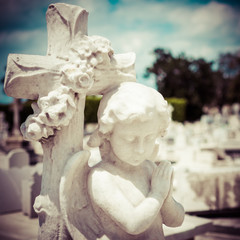 Infant angel on a cemetery