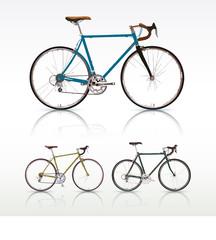 自転車ロードバイク白背景