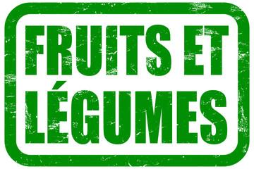 Grunge Stempel grün FRUITS ET LÉGUMES