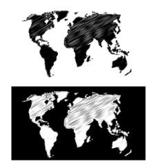 mappa geografica scarabocchiata