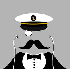 sailor wearing tuxedo and earphones