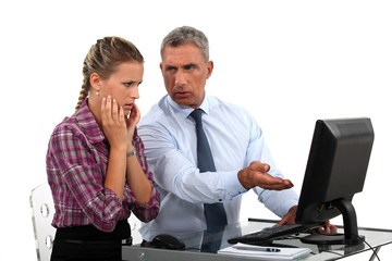 Employee having trouble with computer