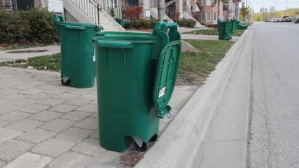 Recycling bins. Toronto, Ontario.