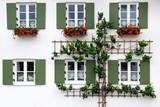 The ancient unique window. Oberammergau